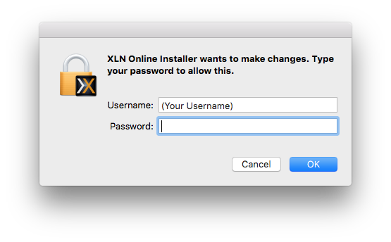 Give the XLN Online Installer hard drive permission