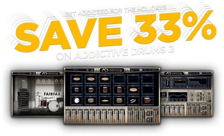 33% off Addictive Drums 2
