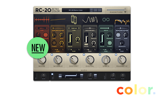 RC-20 Retro Color — Your sound. In Color.