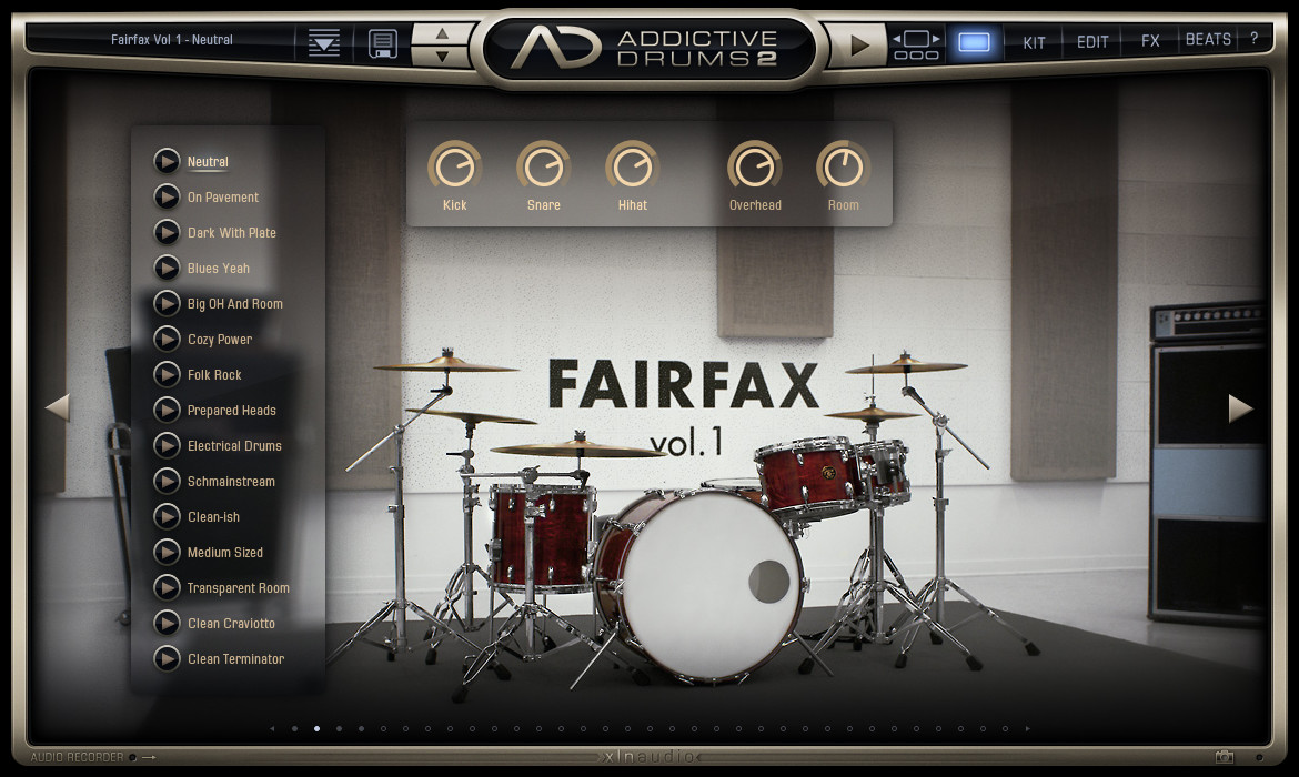 Addictive Drums 2: Explore presets