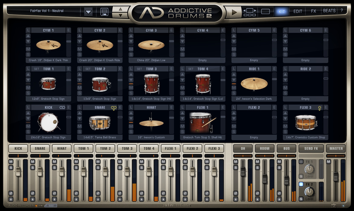Addictive Drums 2: Kit page