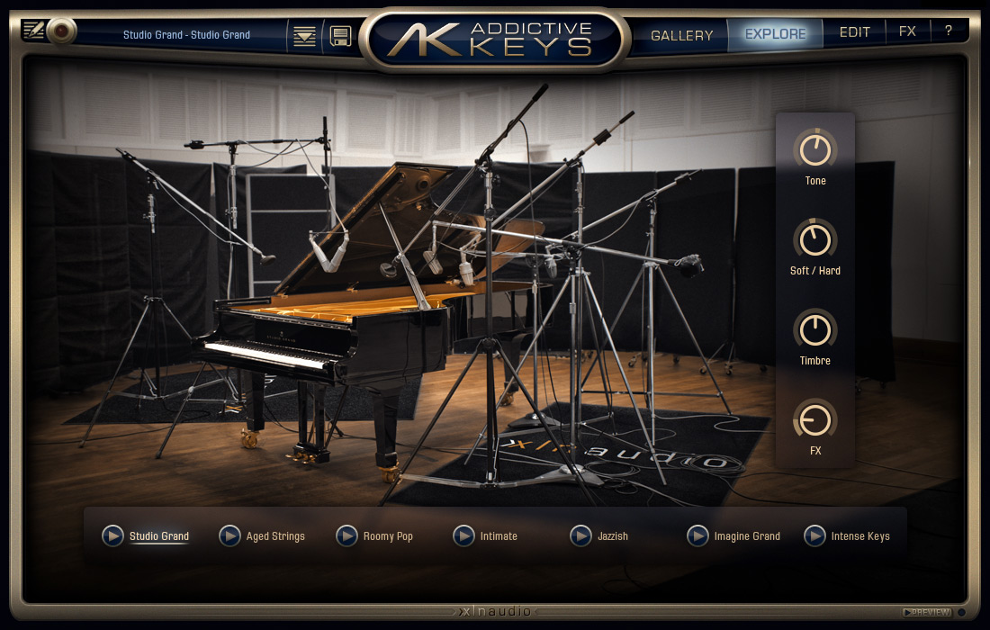 Addictive Keys: Studio Grand Explore Map