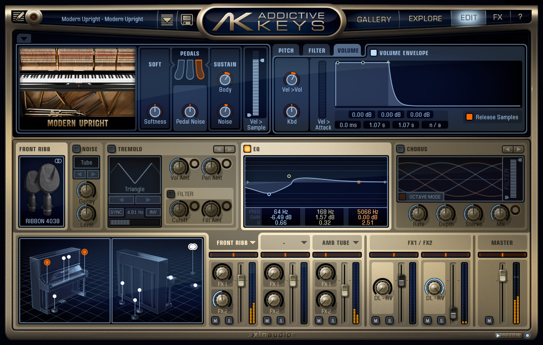 Addictive Keys: Modern Upright FX