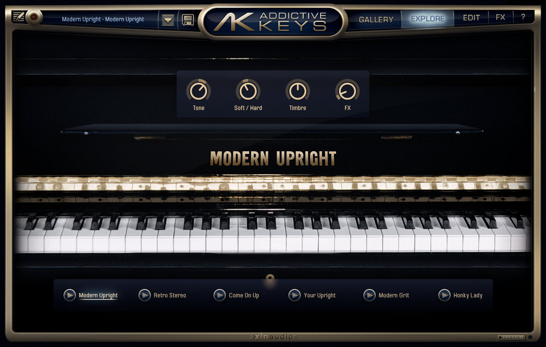 Modern Upright screenshot