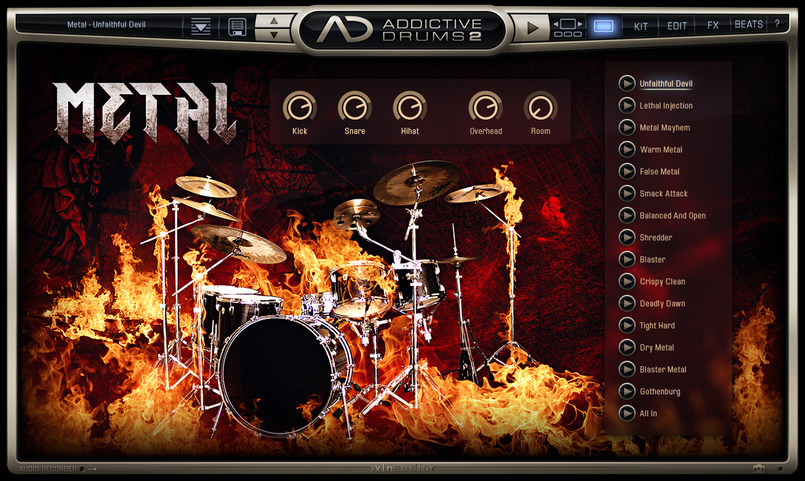 Addictive Drums 2: Rock & Metal Edition screenshot