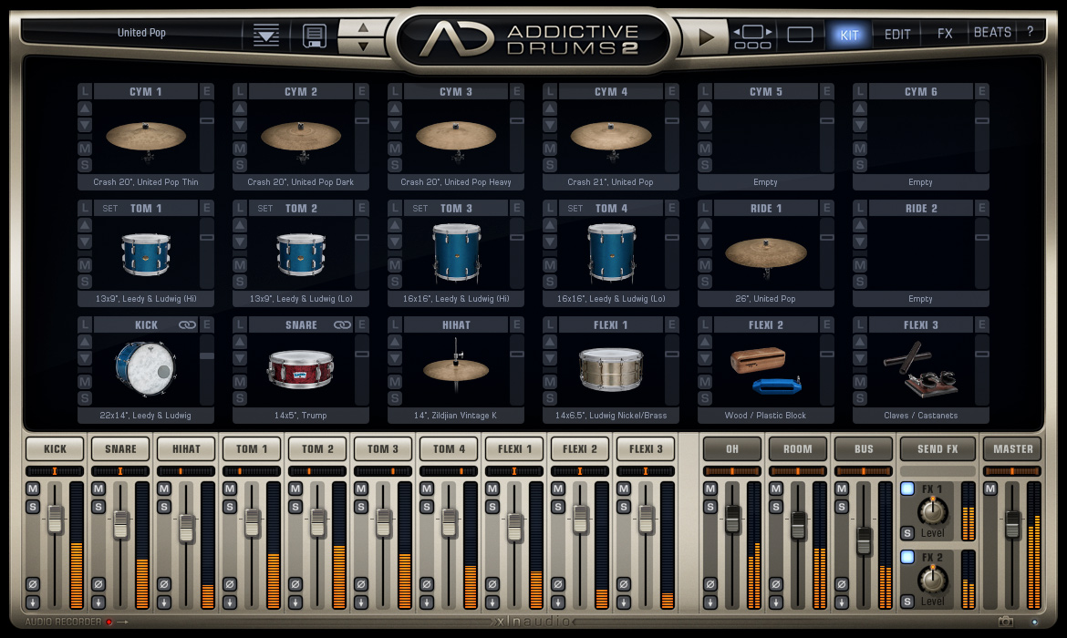 Addictive Drums 2: Custom XL screenshot